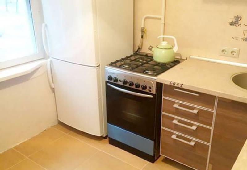 плита с холодильником