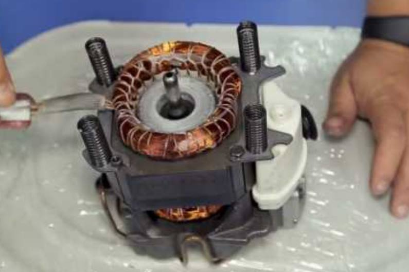 схема-обмотка в компрессоре