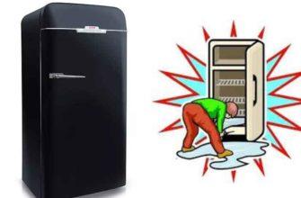 Наледь на внутренней поверхности холодильника.
